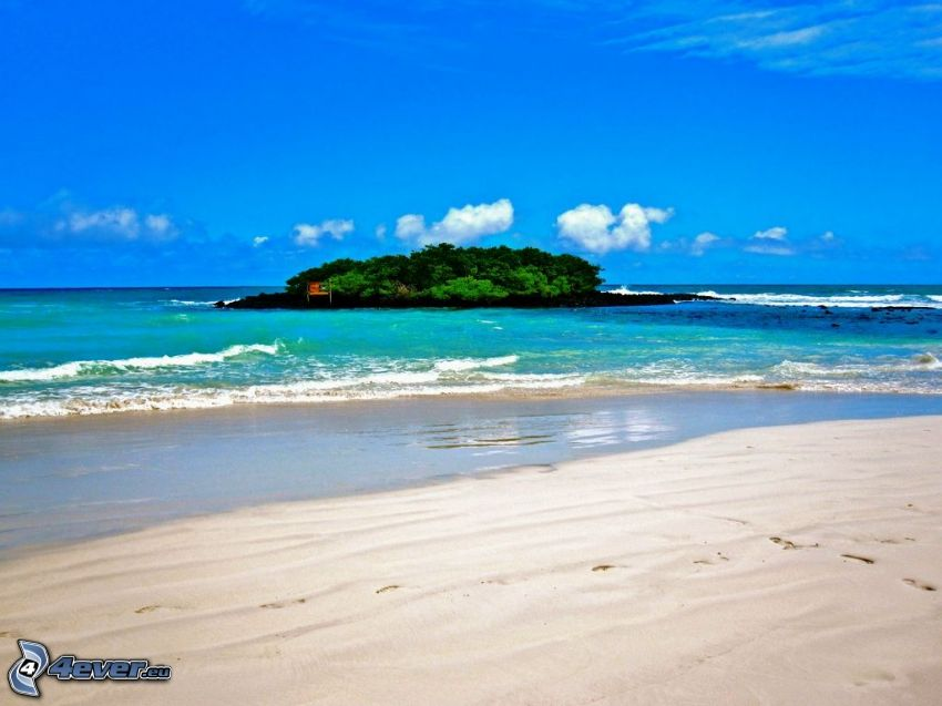 wyspa, morze, plaża