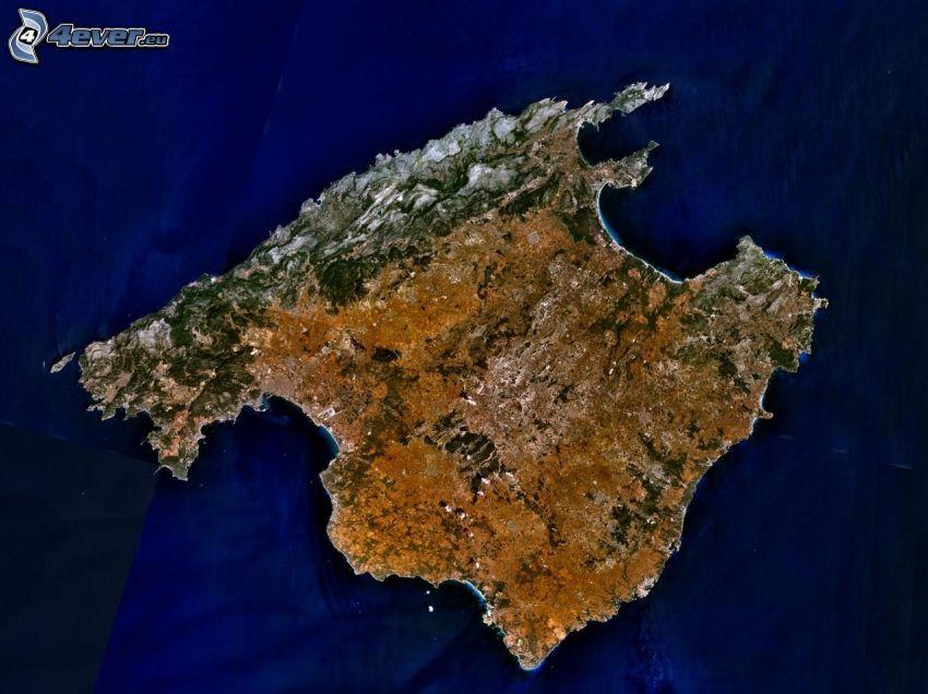 wyspa, Zdjęcie satelitarne