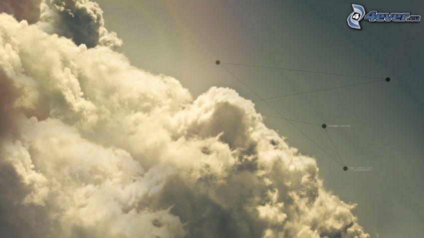 chmury, linie