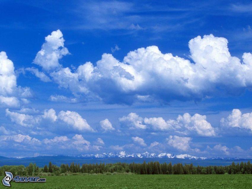 niebo, chmury, przyroda, krajobraz