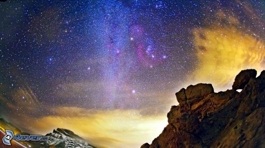 niebo w nocy, gwiaździste niebo