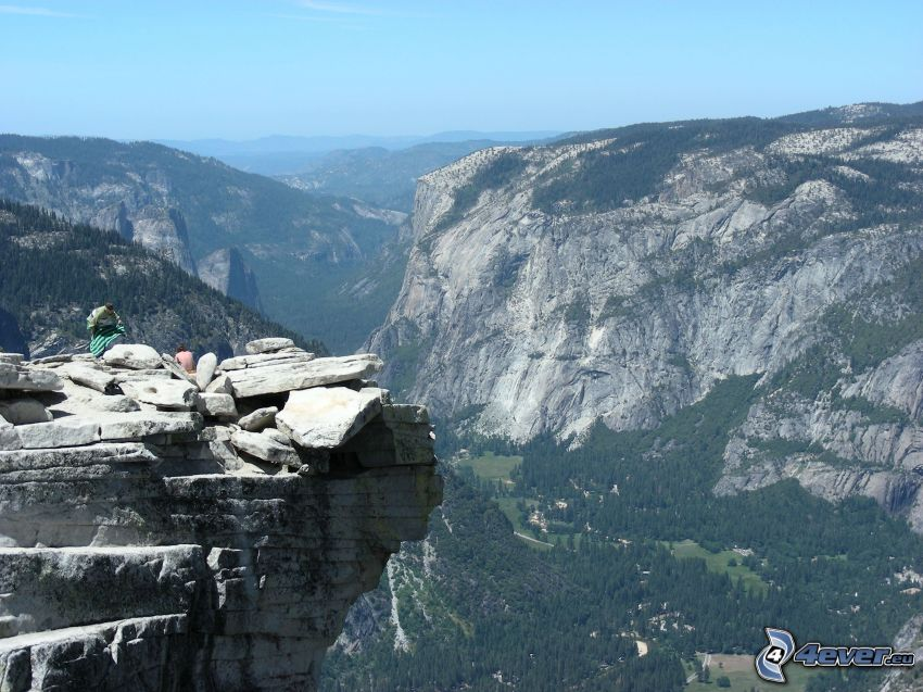 Park Narodowy Yosemite, widok na dolinę