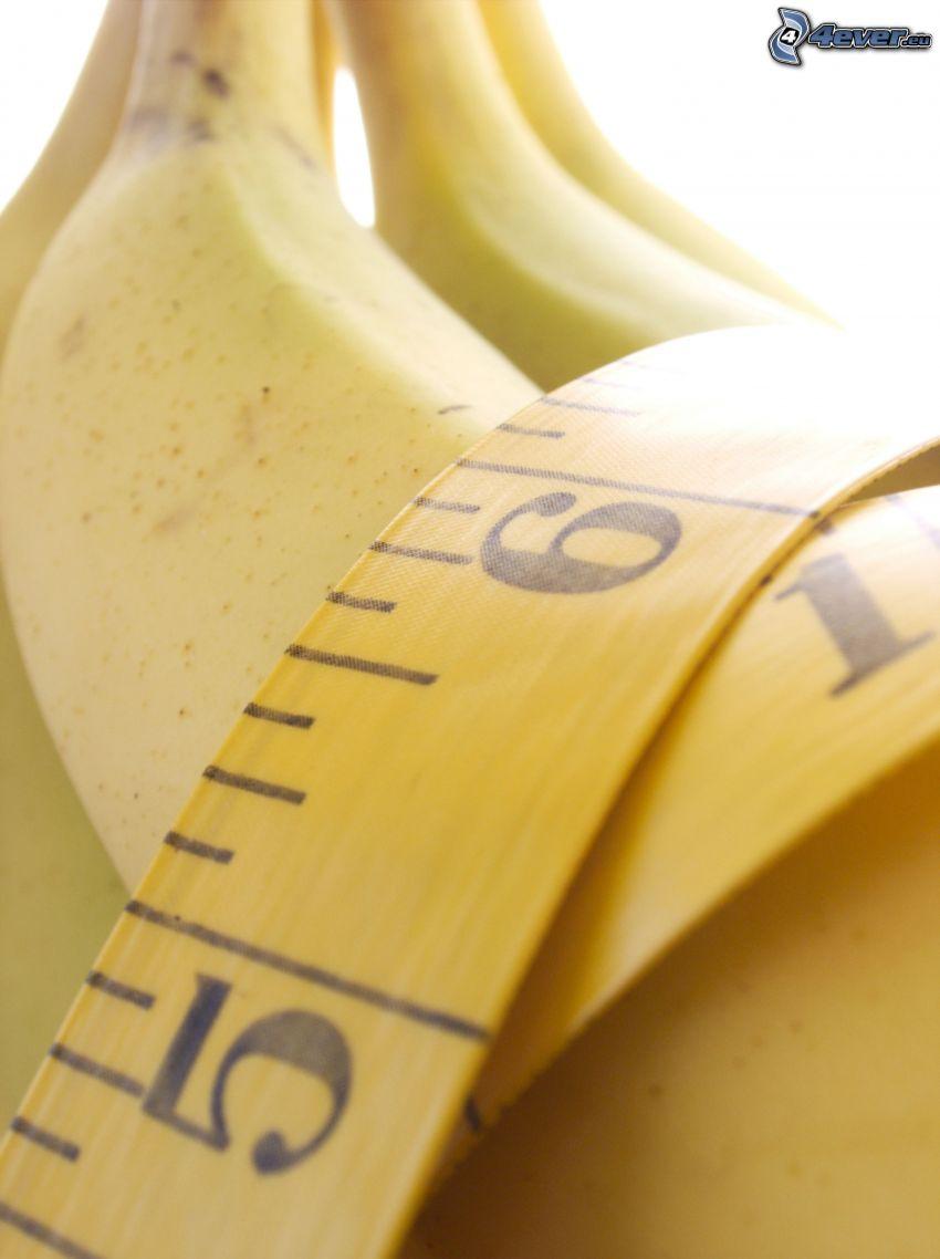 banany, metr
