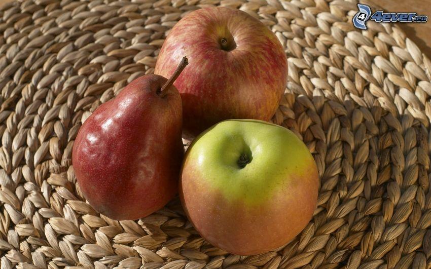 jabłka, gruszka