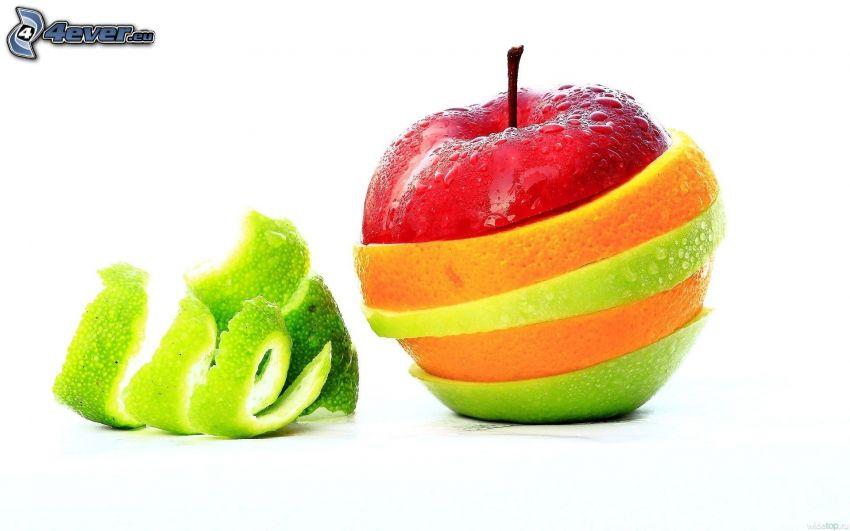 jabłko, pomarańcz