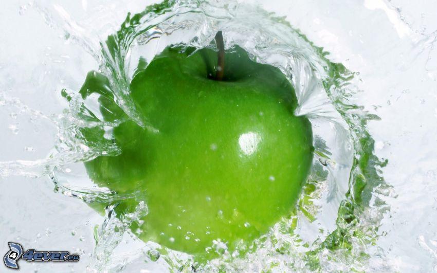 jabłko, woda