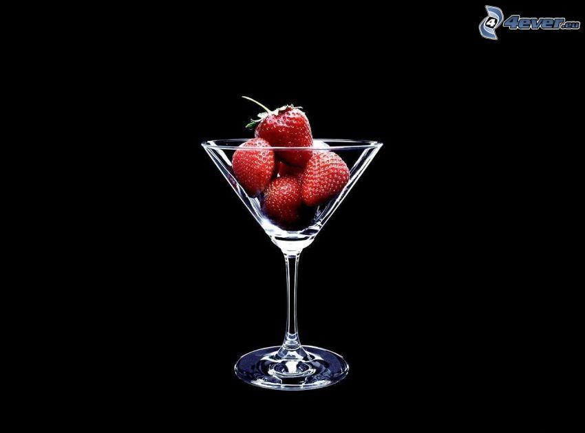truskawki, szklanka