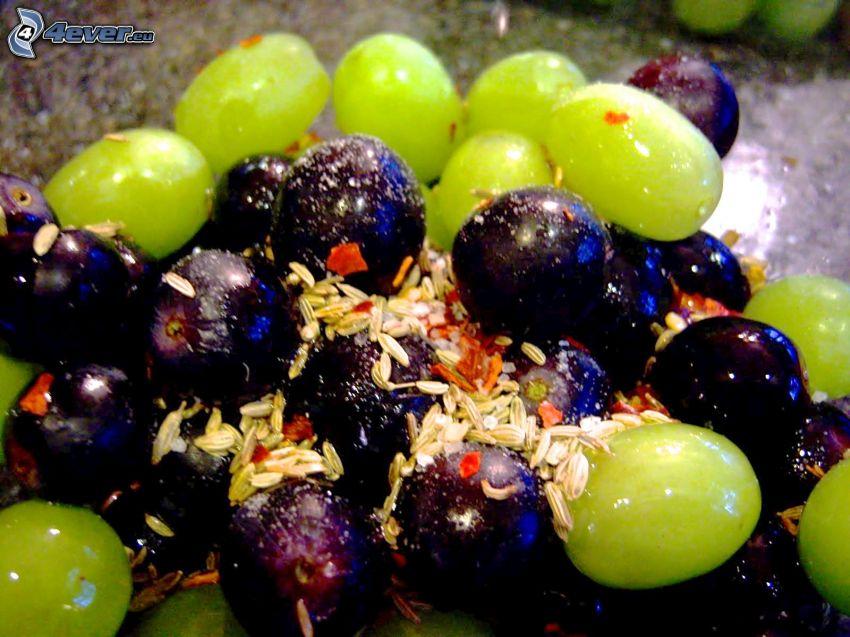 winogrona, nasionka