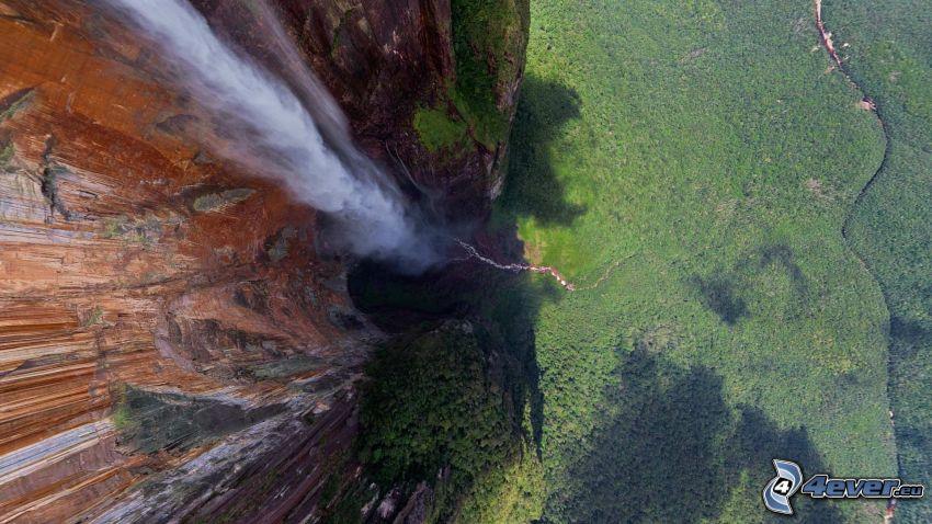 Wodospad Aniołów, las, Venezuela