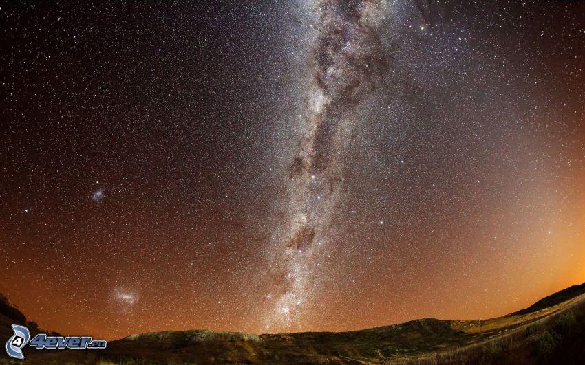 Droga Mleczna, gwiaździste niebo