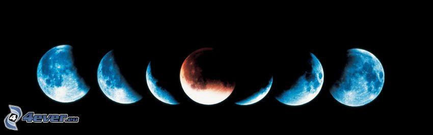 fazy księżyca, pomarańczowy księżyc