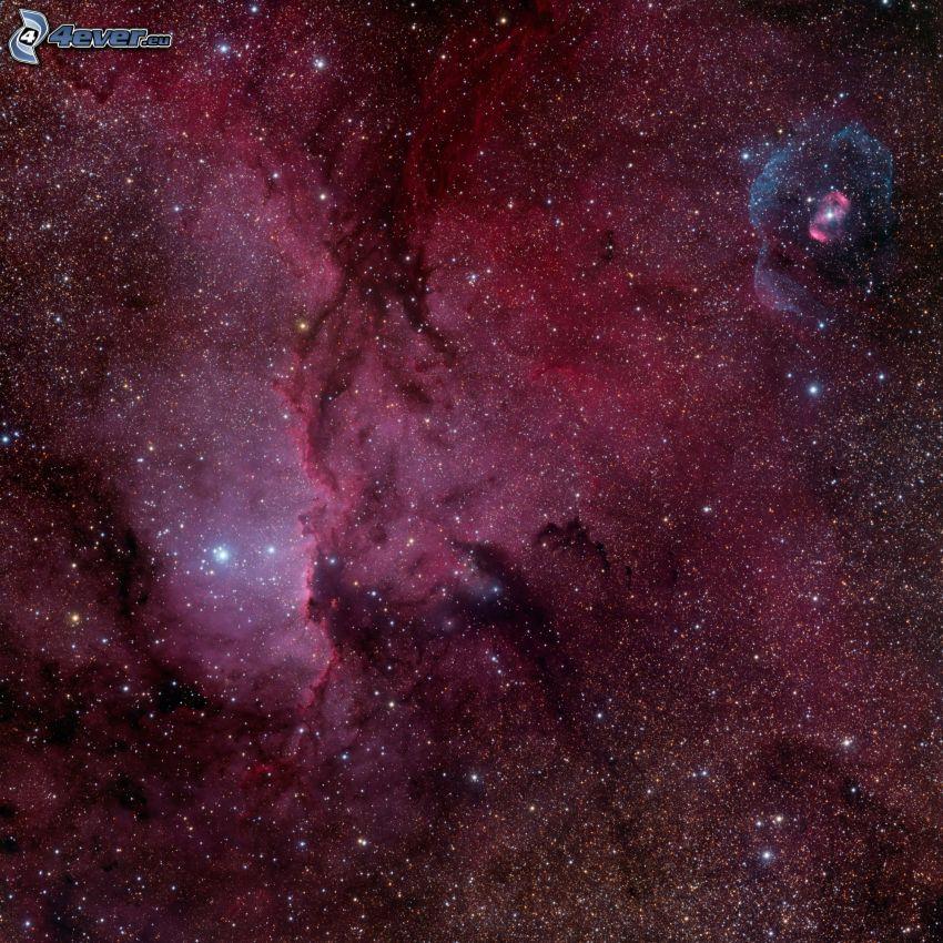 głęboki kosmos, NGC 6188, NGC 6164