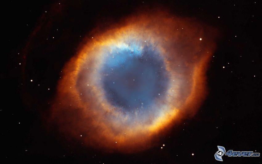 Helix, mgławica, gwiazdy