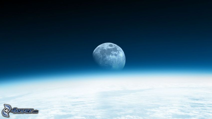 Księżyc, ziemia, atmosfera