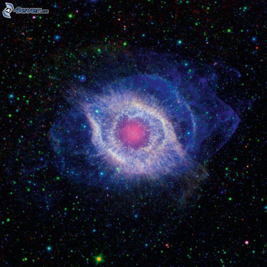 Mgławica Ślimak, gwiazdy