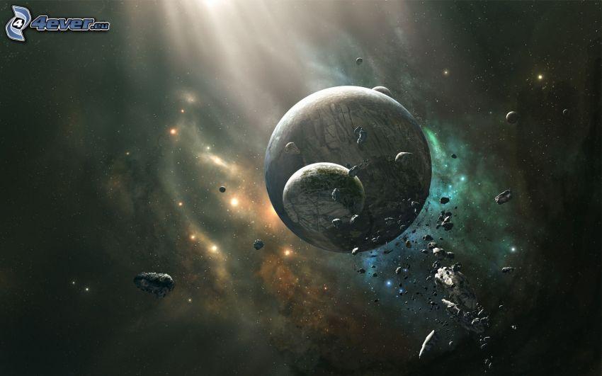planeta, asteroidy