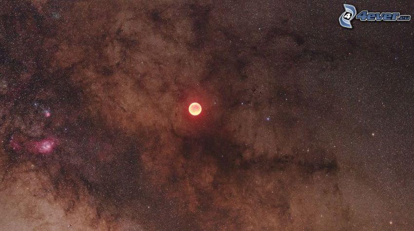 planeta, mgławica, gwiazdy