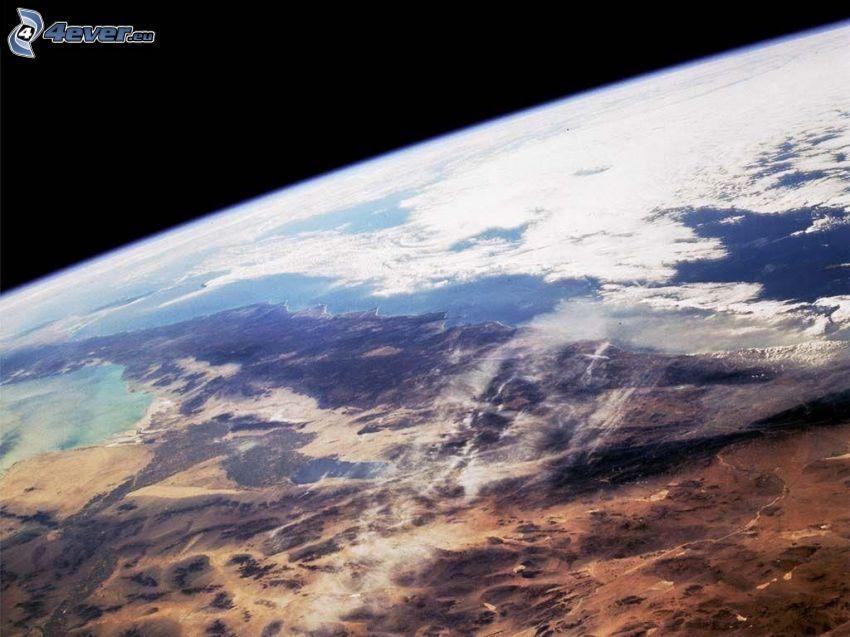 Planeta Ziemia, chmury, widok z kosmosu