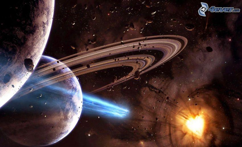 planety, asteroidy, słońce