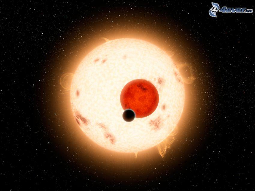 planety, słońce, gwiazdy