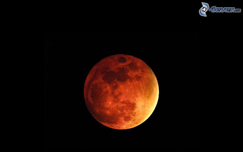 pomarańczowy księżyc