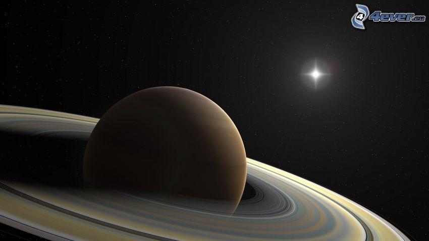 Saturn, słońce