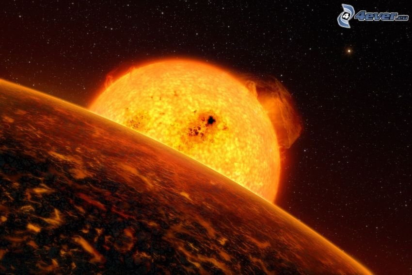 słońce, planety, gwiazdy