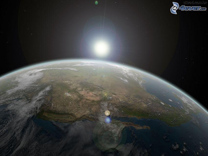 Słońce za Ziemią