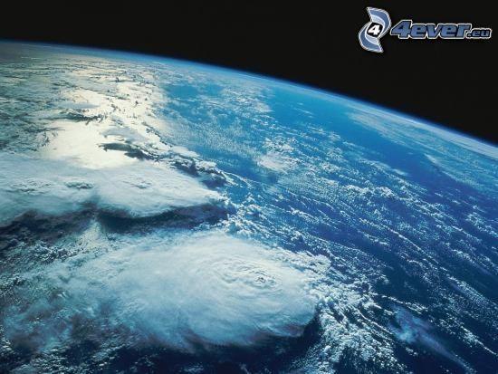 zachmurzenie, atmosfera, Ziemia, widok z kosmosu