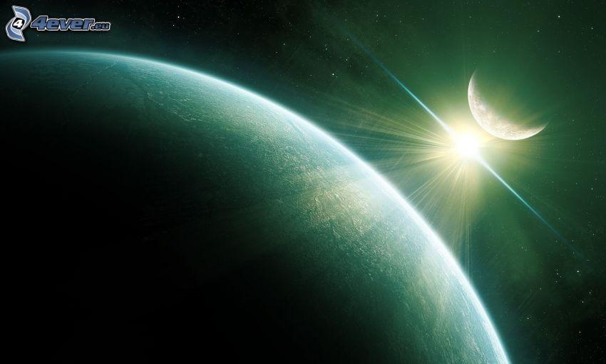 Ziemia, księżyc, słońce