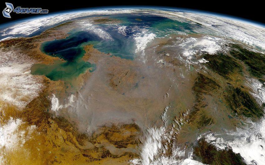 Ziemia, widok z kosmosu
