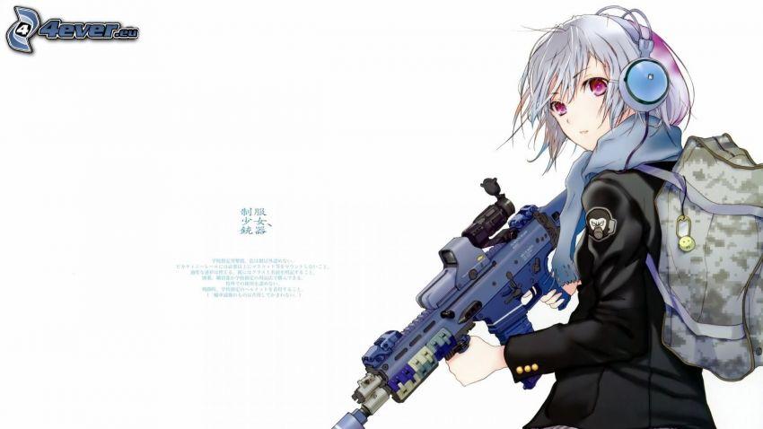 animacyjna dziewczyna, broń