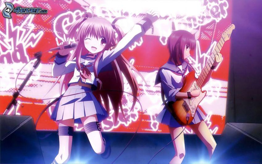 animowana dziewczyna, piosenkarka, gitarzystka