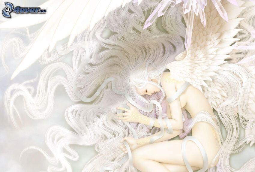 anioł, spanie