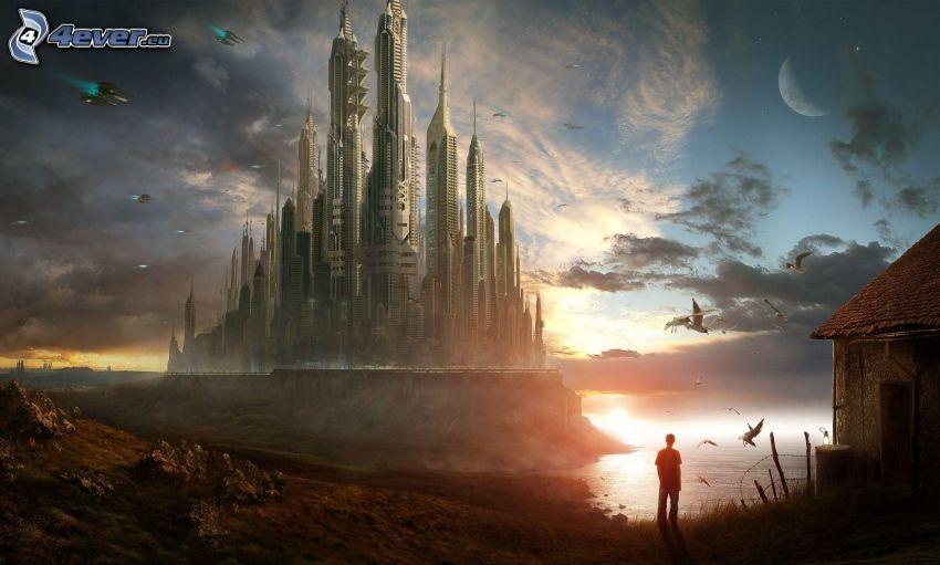 kraina fantazji, sci-fi miasta