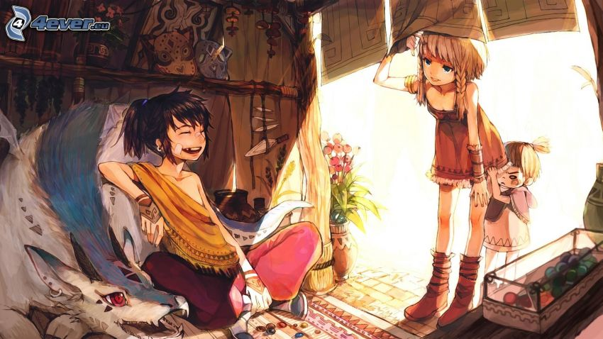 przyjaciele, anime