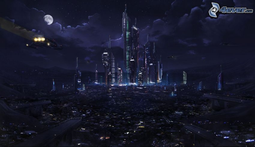 sci-fi miasta