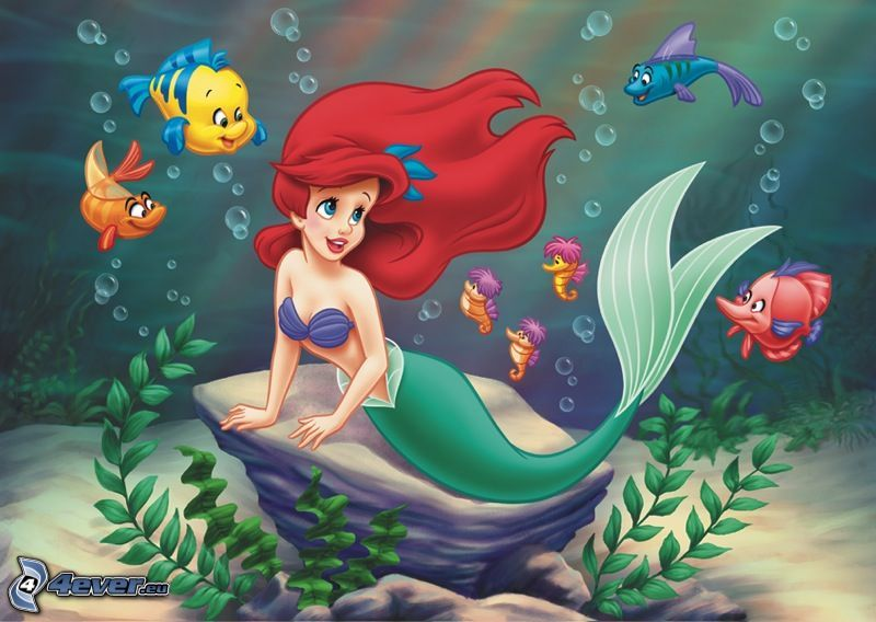 Ariel, Disney, syrena