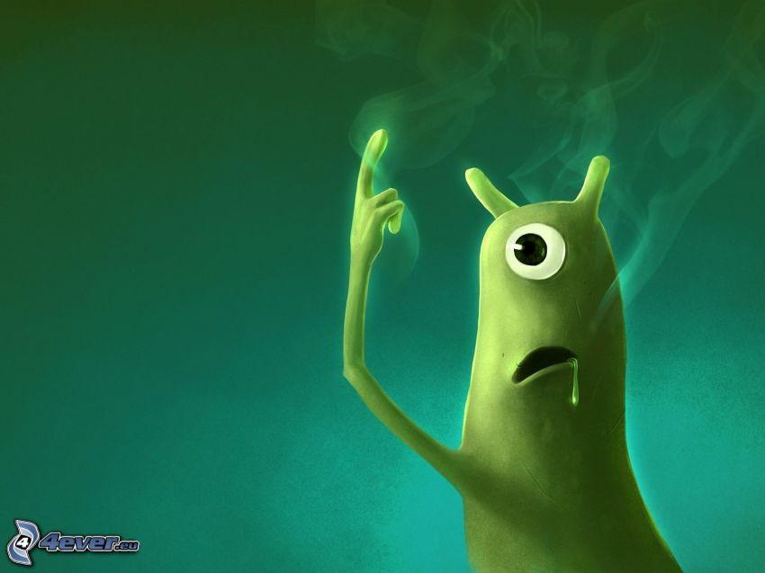 bakteria, dym