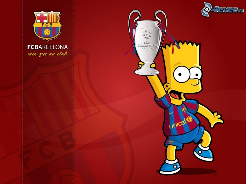Bart Simpson, FC Barcelona, UEFA Champions League