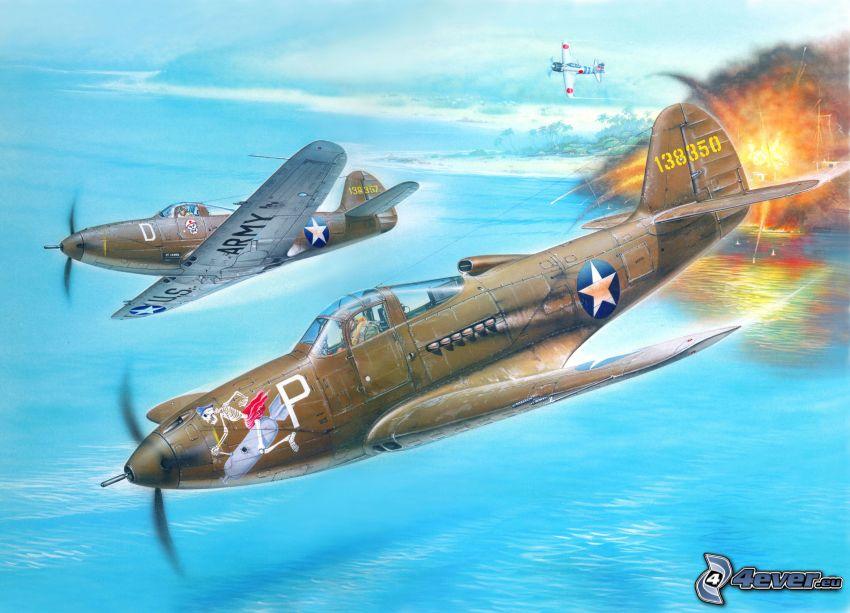 Bell P-39, samoloty