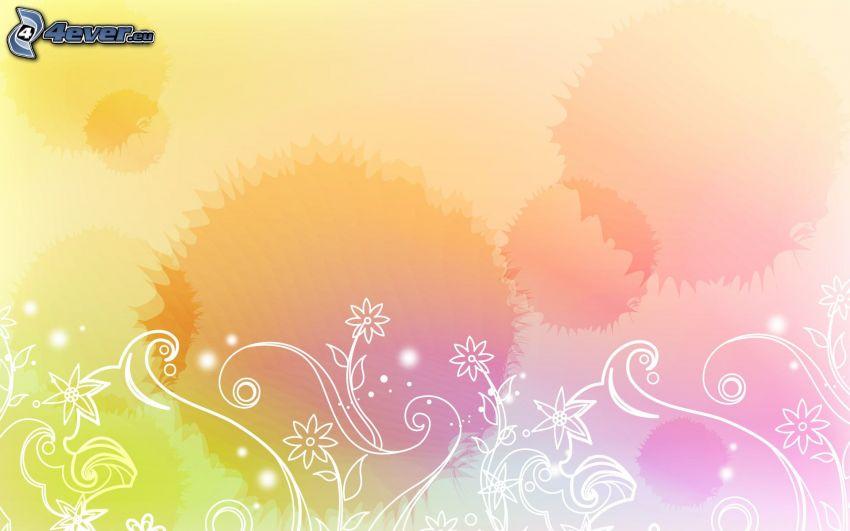 cyfrowe kwiaty, kleksy