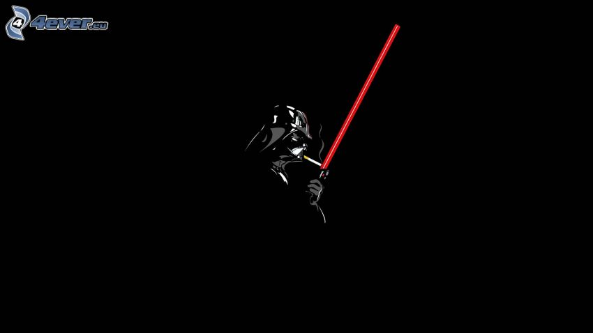 Darth Vader, papieros, miecz świetlny