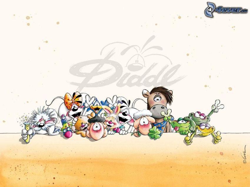 Diddl, postacie z kreskówek