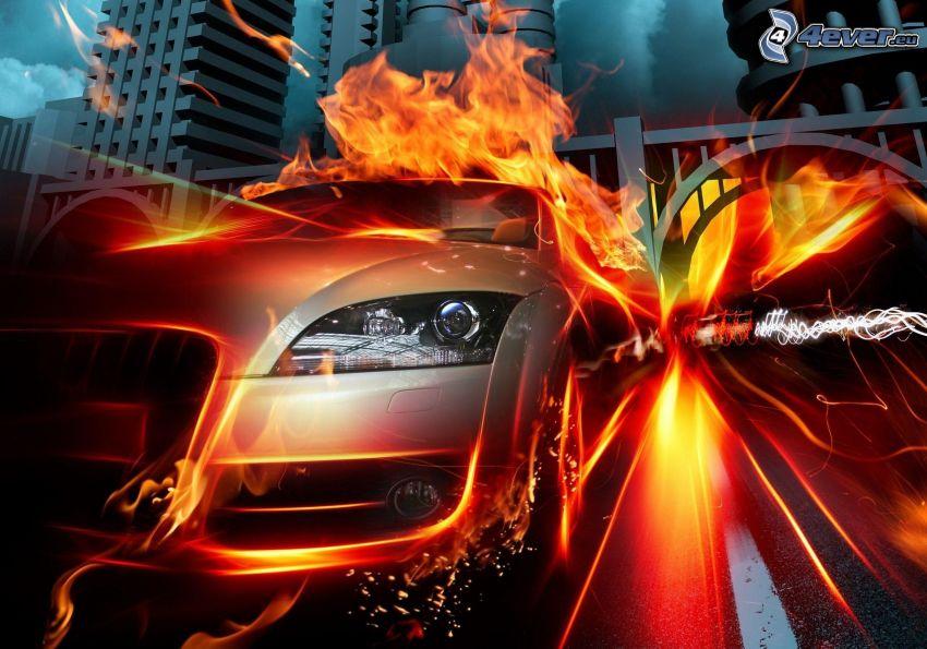 Audi TT, ogień