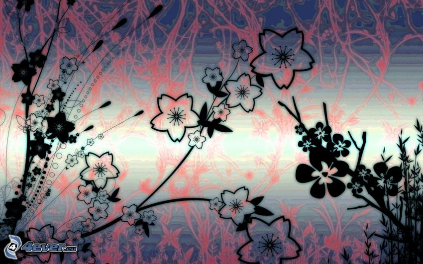 cyfrowe kwiaty
