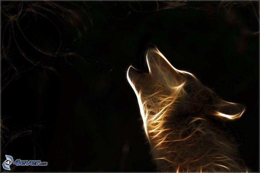 fraktalny wilk, skomlenie