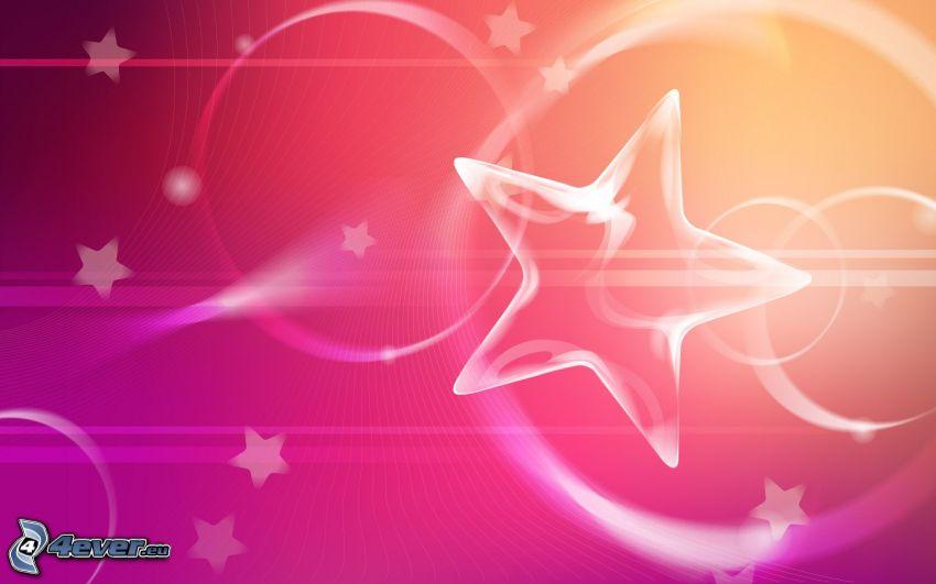 gwiazdy, różowe tło