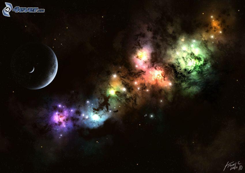 mgławice, planety