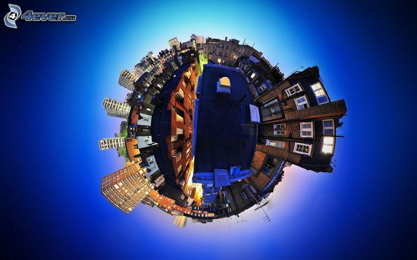 miasto, świat, Ziemia